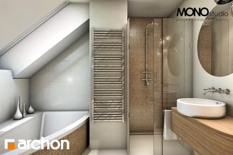 Проект будинку ARCHON+ Будинок у перлівці ver.3 візуалізація ванни (візуалізація 1 від 1)