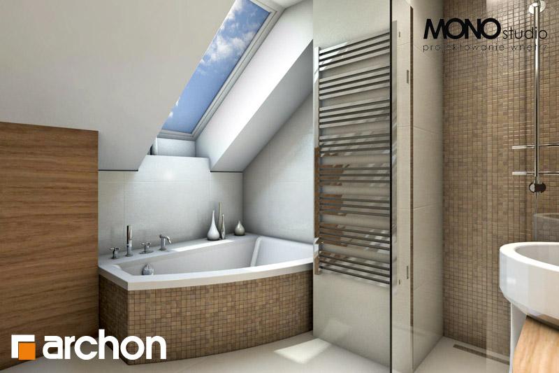Проект будинку ARCHON+ Будинок у перлівці ver.3 візуалізація ванни (візуалізація 1 від 2)