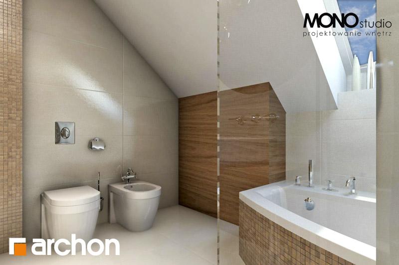 Проект будинку ARCHON+ Будинок у перлівці ver.3 візуалізація ванни (візуалізація 1 від 3)