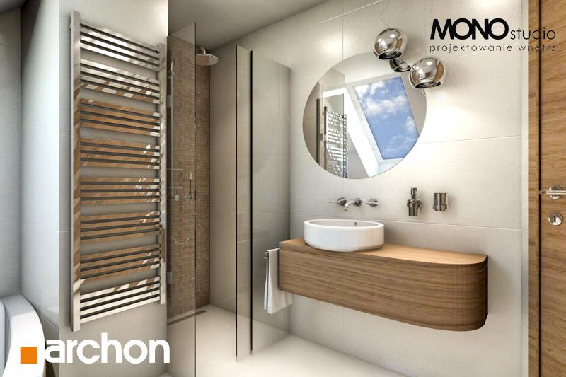 Проект будинку ARCHON+ Будинок у перлівці ver.3 візуалізація ванни (візуалізація 1 від 4)