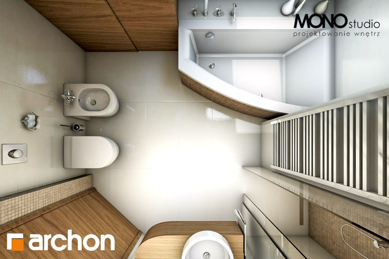 Проект будинку ARCHON+ Будинок у перлівці ver.3 візуалізація ванни (візуалізація 1 від 5)