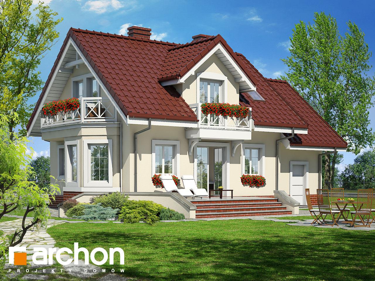 Проект будинку ARCHON+ Будинок у перлівці ver.3 Вид 2