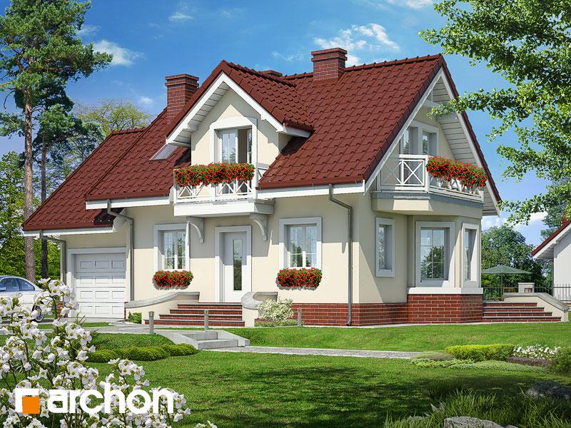 Проект будинку ARCHON+ Будинок у перлівці ver.3 Вид 1