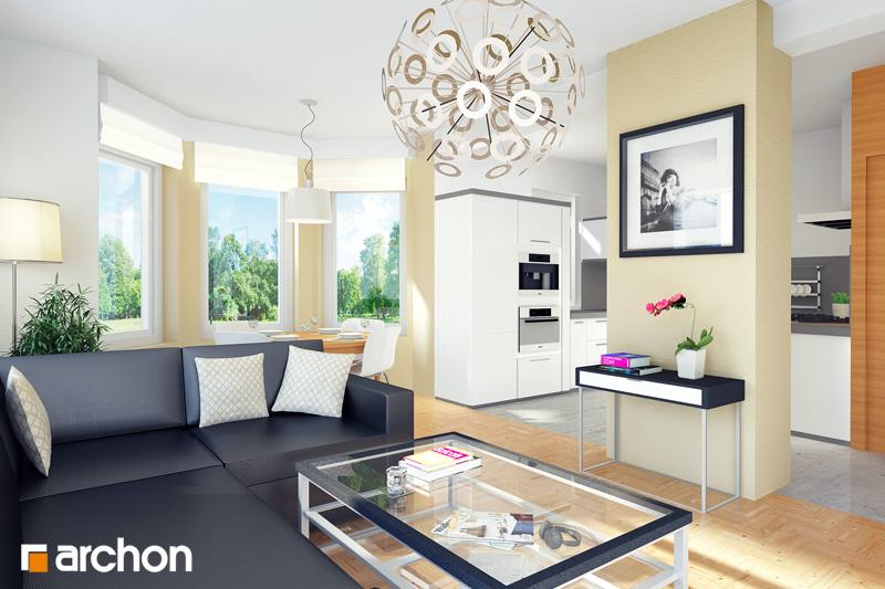 Проект будинку ARCHON+ Будинок у перлівці ver.3 денна зона (візуалізація 1 від 1)