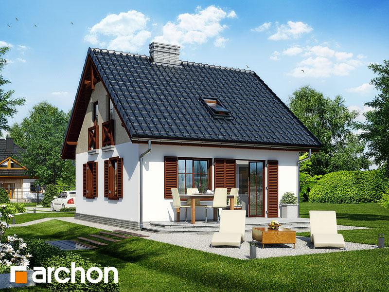 Проект будинку ARCHON+ Будинок в брусниці Вид 2