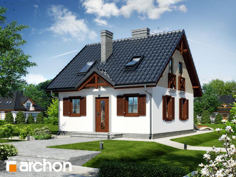 Проект дома ARCHON+ Дом в бруснике Вид 1