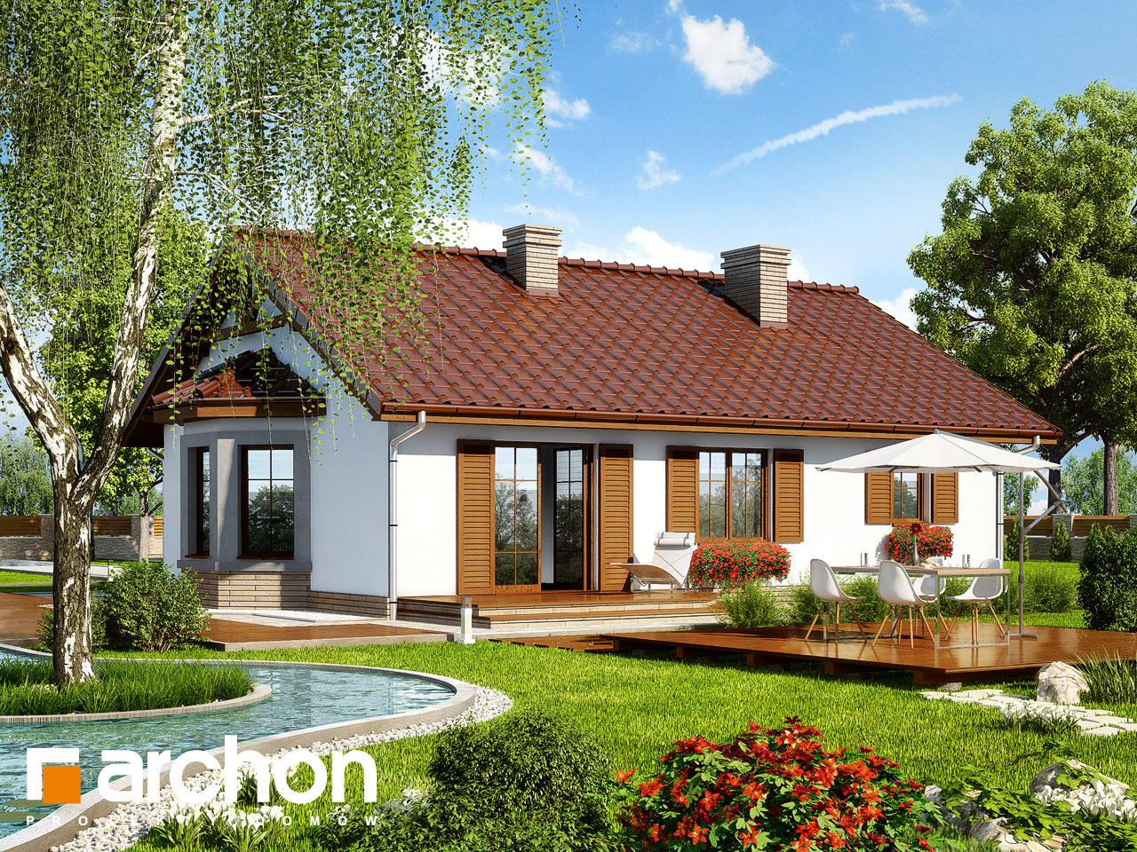 Проект будинку ARCHON+ Будинок в ягодах 2 Вид 2
