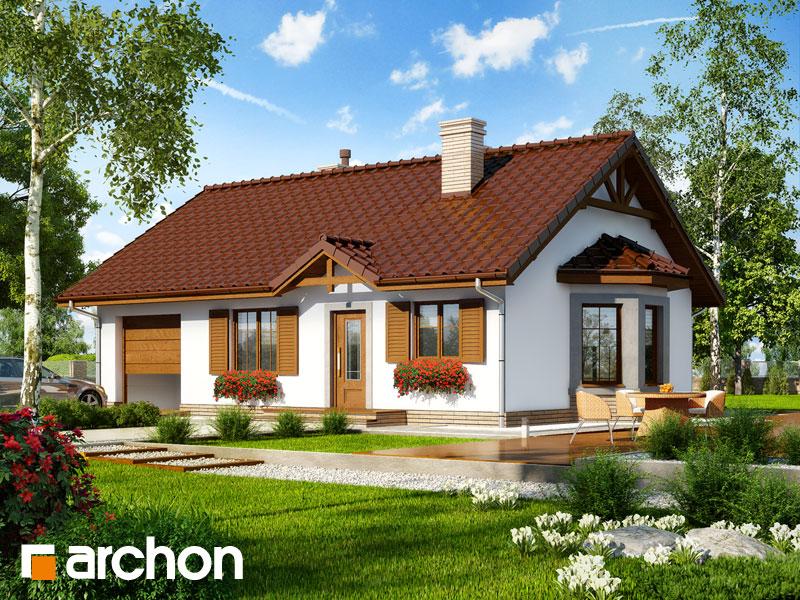 Проект будинку ARCHON+ Будинок в ягодах 2 Вид 1