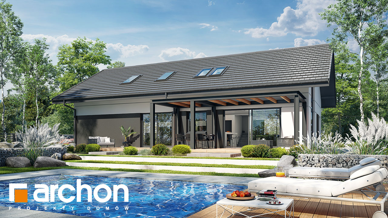 Проект будинку ARCHON+ Будинок в бузку 12 Вид 2