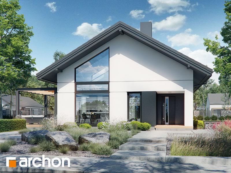 Проект будинку ARCHON+ Будинок в бузку 12 Вид 1