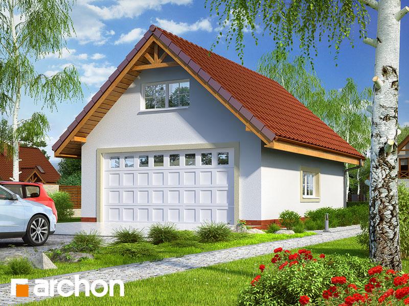 Проект будинку ARCHON+ Г6а - Двомісний гараж  Вид 1