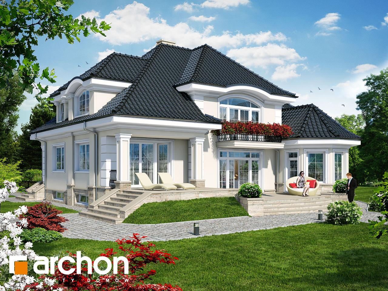 Проект будинку ARCHON+ Резиденція в Мишленіцах 2 (П) Вид 2