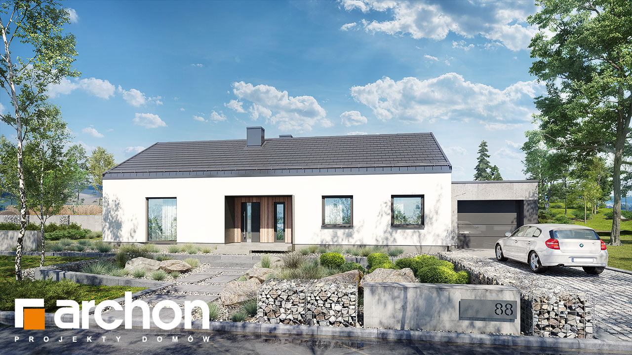 Проект дома ARCHON+ Дом в мекинтошах 8 стилизация 4