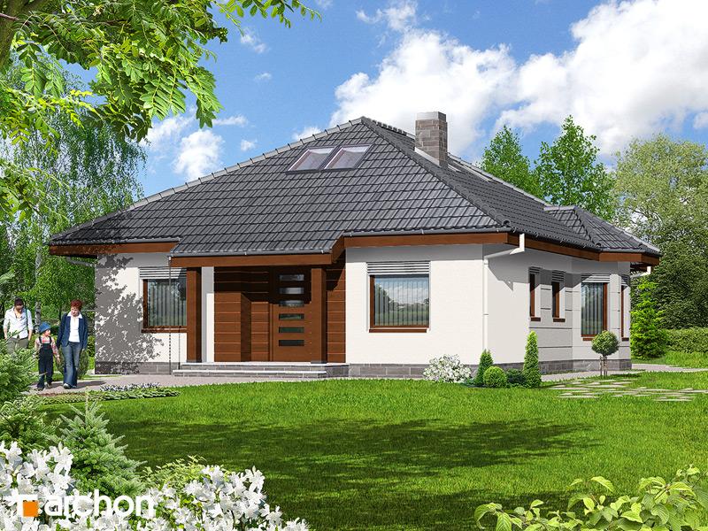 Проект будинку ARCHON+ Будинок при потоці стилізація 3