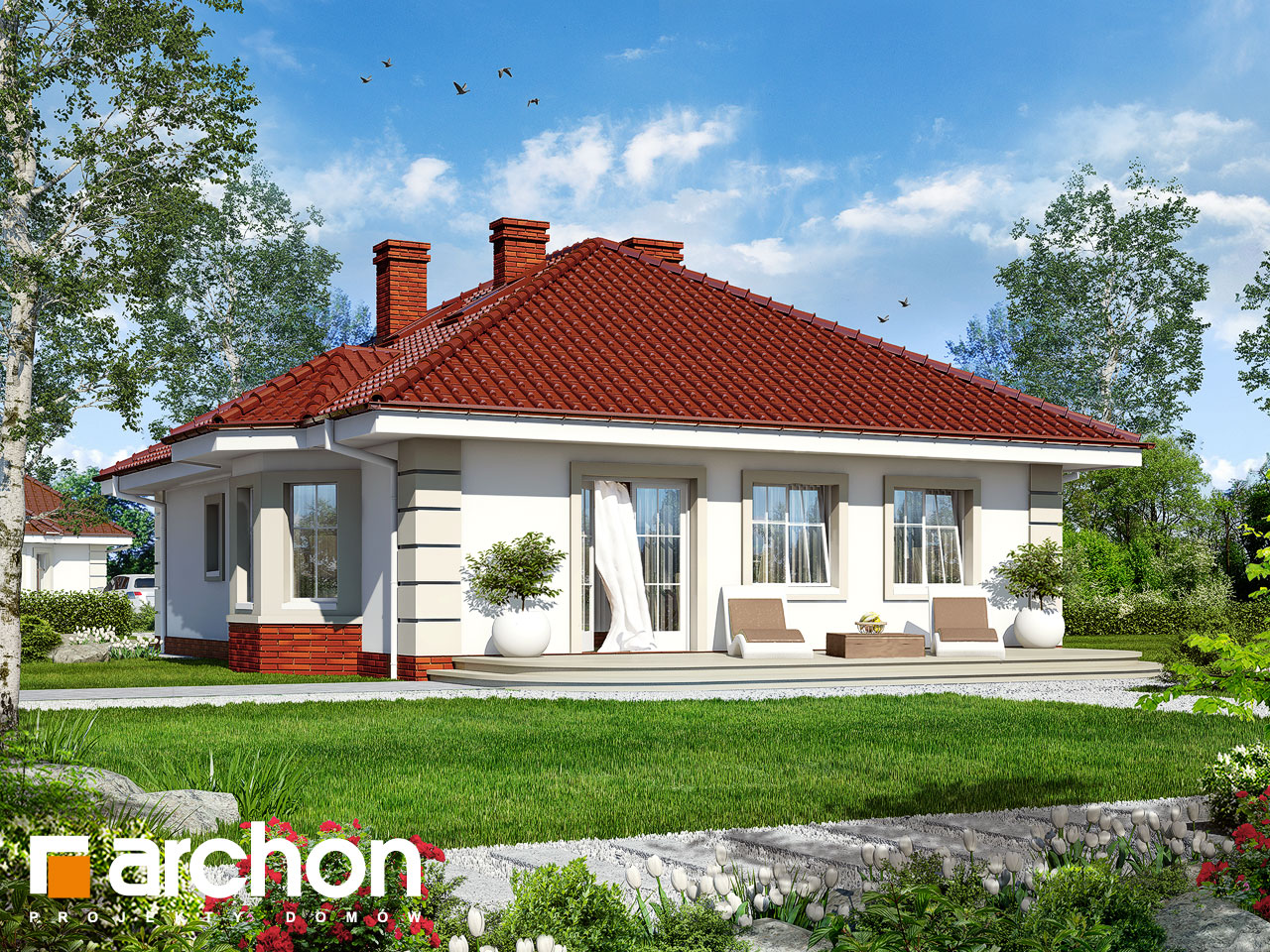 Проект будинку ARCHON+ Будинок при потоці Вид 2