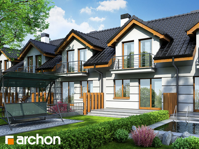 Проект будинку ARCHON+ Будинок під гінко Вид 2