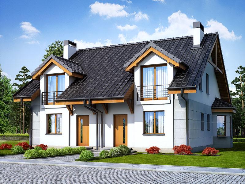 Проект будинку ARCHON+ Будинок під гінко 2 Вид 1
