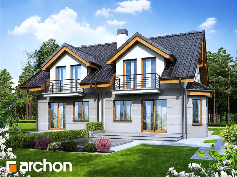 Проект будинку ARCHON+ Будинок під гінко 2 Вид 2