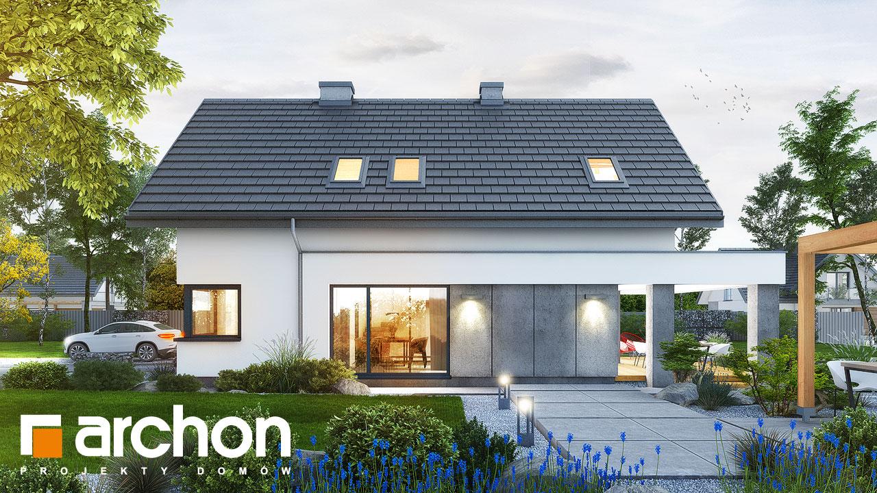 Проект будинку ARCHON+ Будинок в рабатках додаткова візуалізація