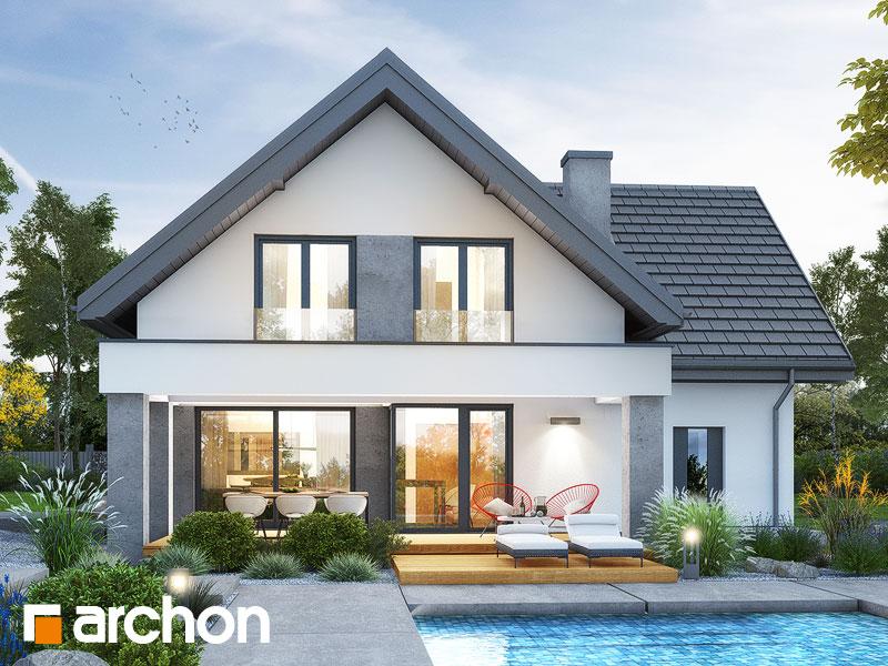 Проект будинку ARCHON+ Будинок в рабатках Вид 1