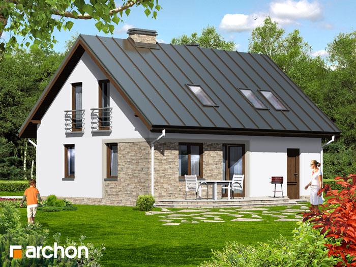Проект будинку ARCHON+ Будинок в брусниці 2 додаткова візуалізація