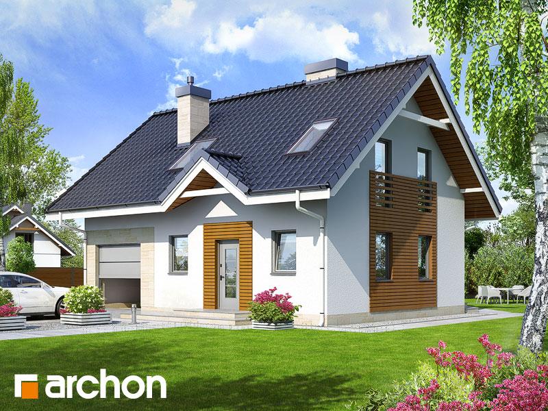 Проект будинку ARCHON+ Будинок в брусниці 2 Вид 1
