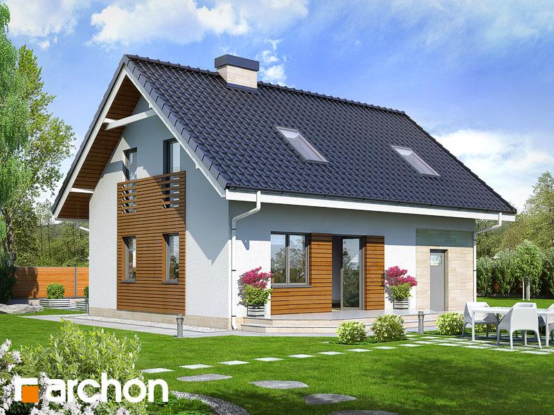 Проект будинку ARCHON+ Будинок в брусниці 2 Вид 2