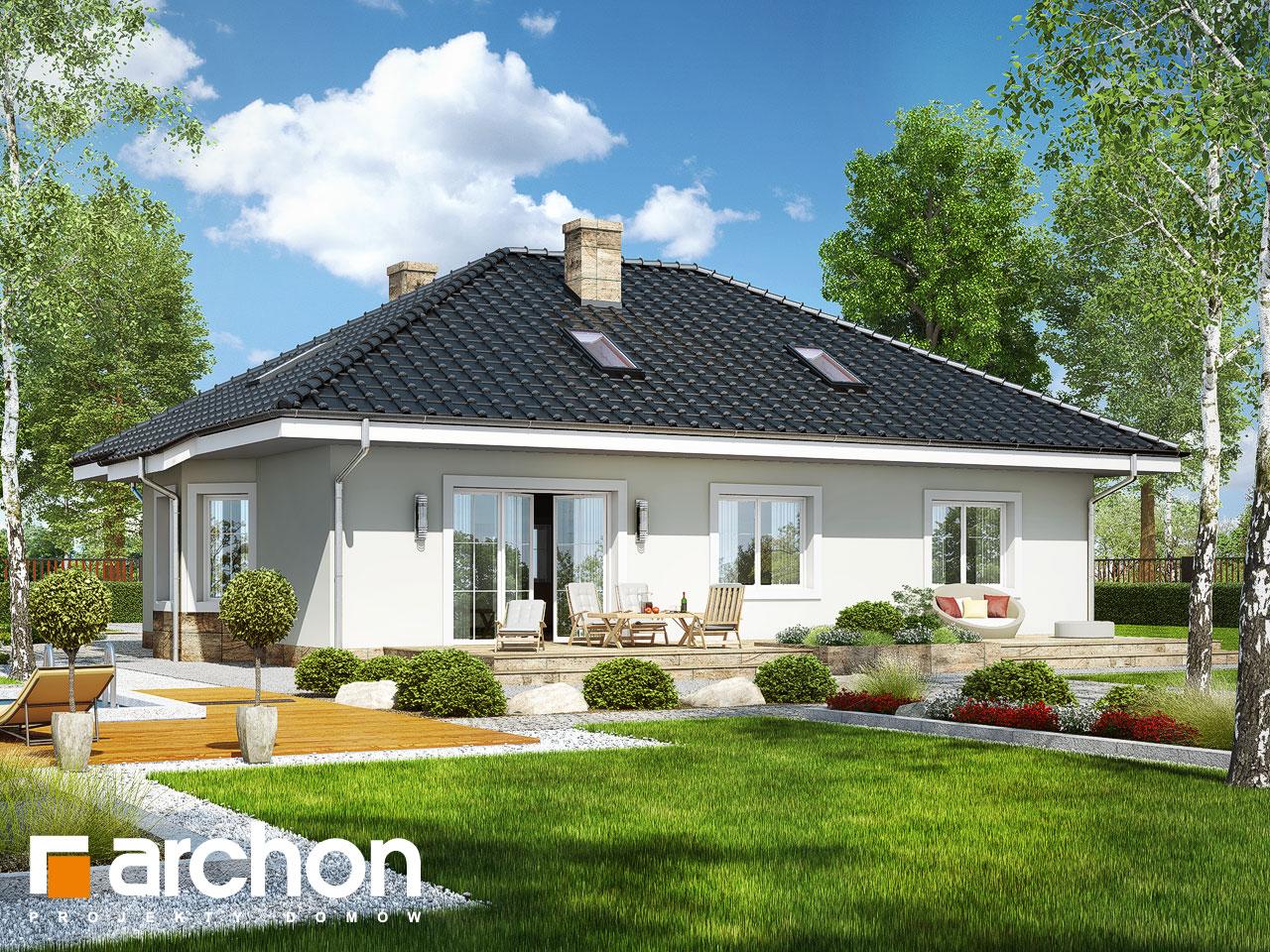 Проект дома ARCHON+ Дом под красной рябиной 12 Вид 2