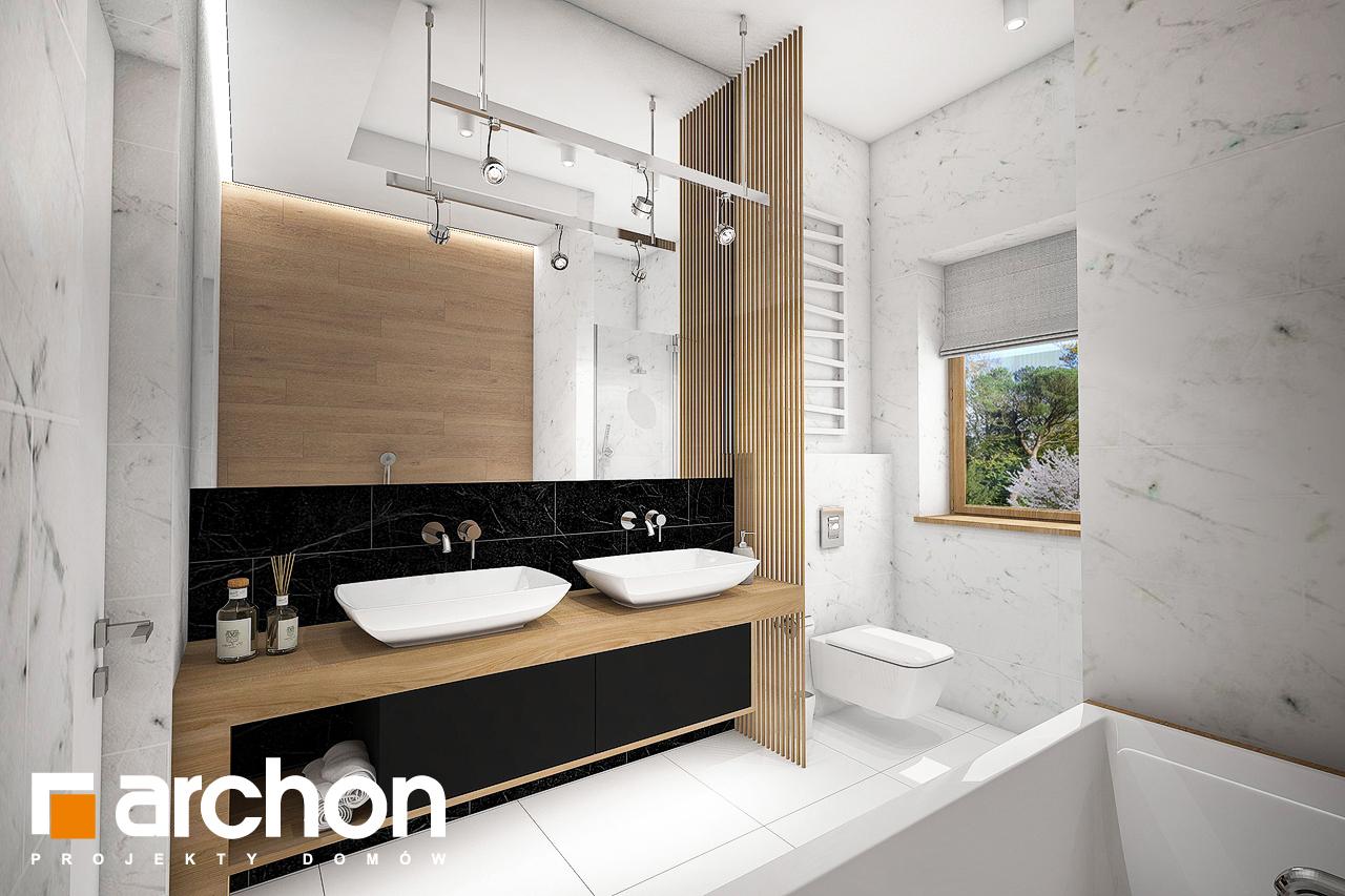 Проект будинку ARCHON+ Будинок в мекінтошах 6 візуалізація ванни (візуалізація 3 від 1)
