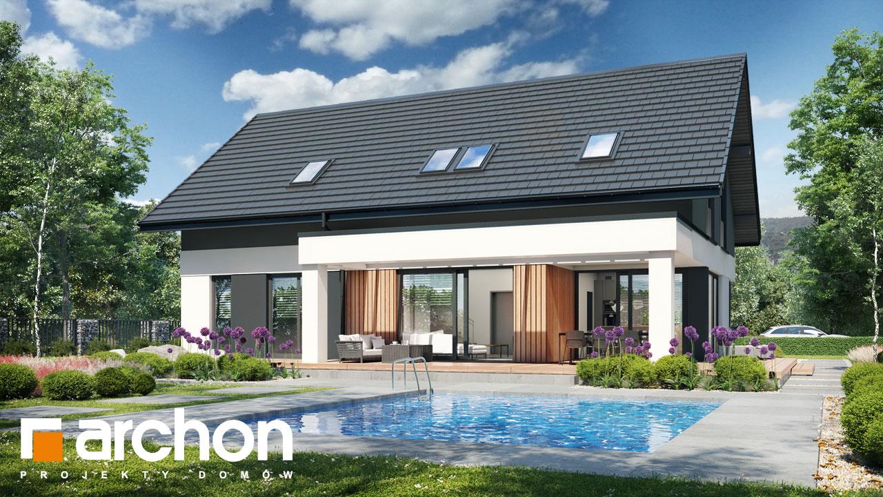 Проект будинку ARCHON+ Будинок в дабеціях 4 (Г) додаткова візуалізація