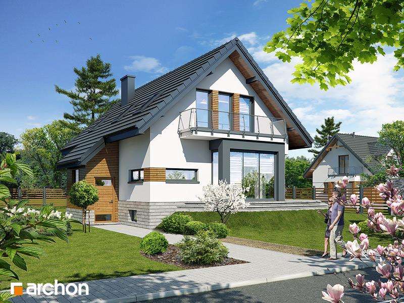 Проект будинку ARCHON+ Будинок в шафрані стилізація 3