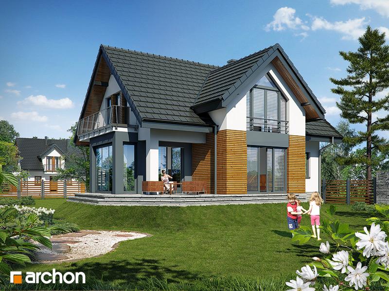 Проект будинку ARCHON+ Будинок в шафрані стилізація 4