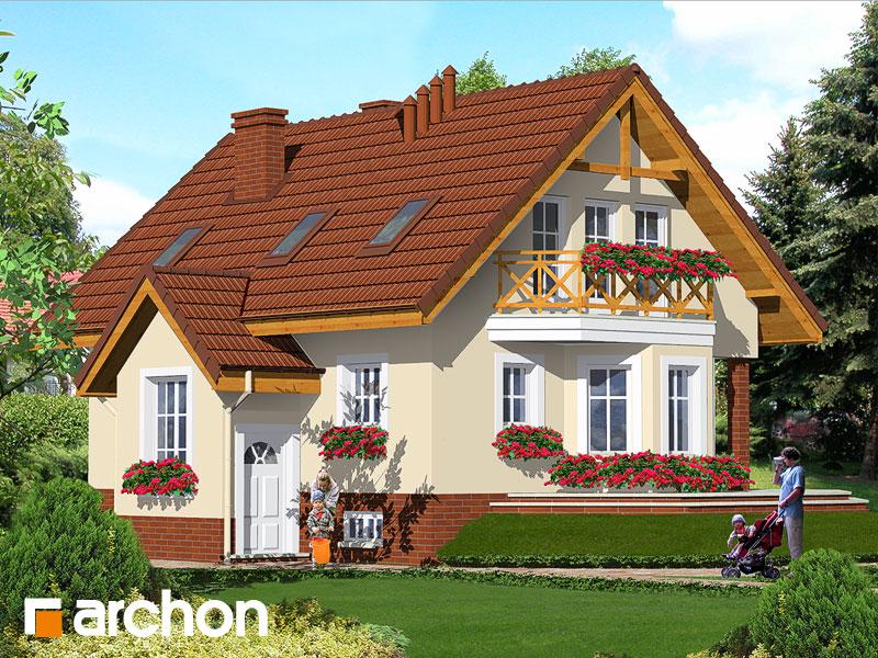 Проект будинку ARCHON+ Будинок в шафрані Вид 1