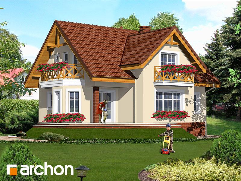 Проект будинку ARCHON+ Будинок в шафрані Вид 2