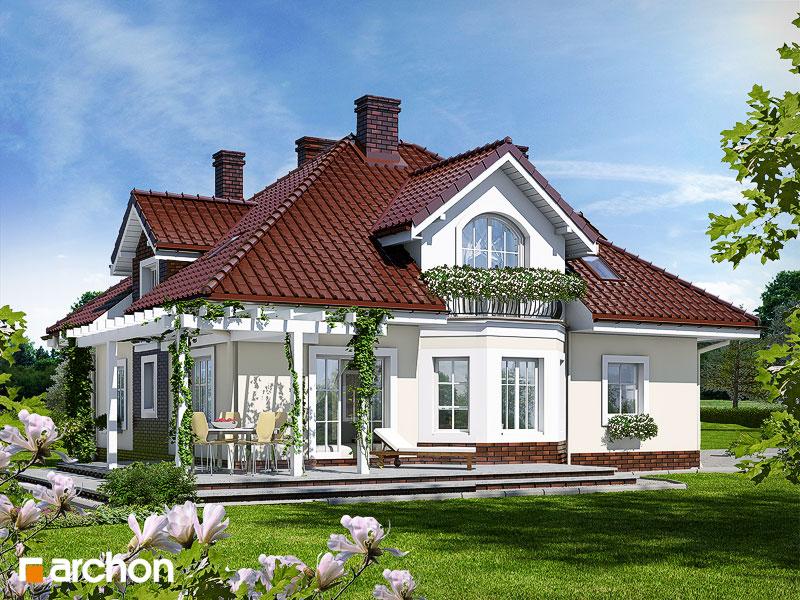 Проект будинку ARCHON+ Будинок в тим'яні додаткова візуалізація