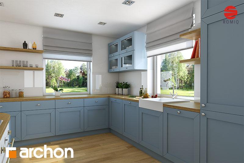 Проект будинку ARCHON+ Будинок в тим'яні аранжування кухні 1 від 1
