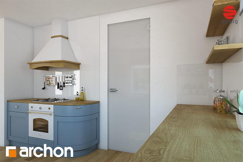 Проект будинку ARCHON+ Будинок в тим'яні аранжування кухні 1 від 2