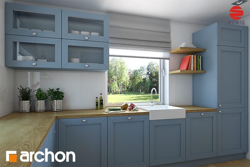 Проект будинку ARCHON+ Будинок в тим'яні аранжування кухні 1 від 3