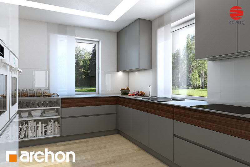 Проект будинку ARCHON+ Будинок в тим'яні аранжування кухні 2 від 1