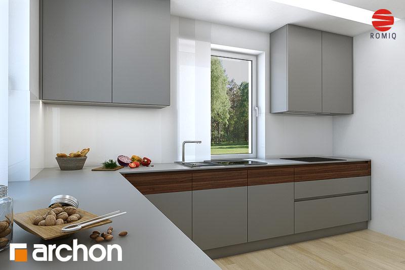 Проект будинку ARCHON+ Будинок в тим'яні аранжування кухні 2 від 2