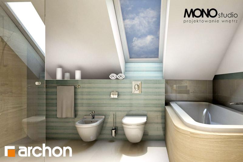 Проект будинку ARCHON+ Будинок в тим'яні візуалізація ванни (візуалізація 1 від 1)