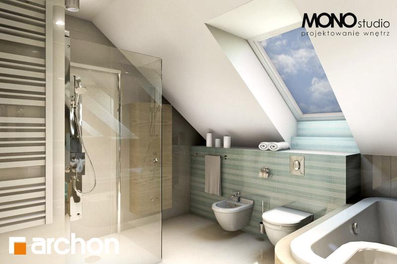 Проект будинку ARCHON+ Будинок в тим'яні візуалізація ванни (візуалізація 1 від 2)