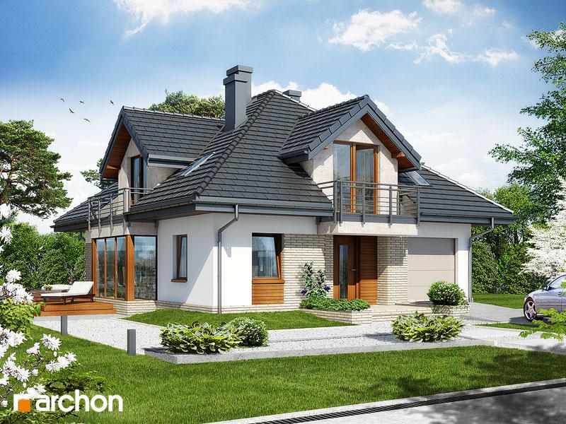 Проект будинку ARCHON+ Будинок в тим'яні стилізація 3