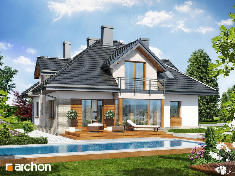 Проект будинку ARCHON+ Будинок в тим'яні стилізація 4