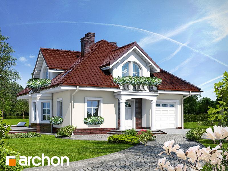 Проект будинку ARCHON+ Будинок в тим'яні Вид 1