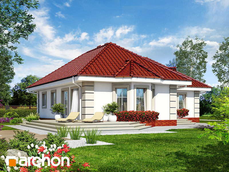 Проект будинку ARCHON+ Будинок в пустирниках Вид 2