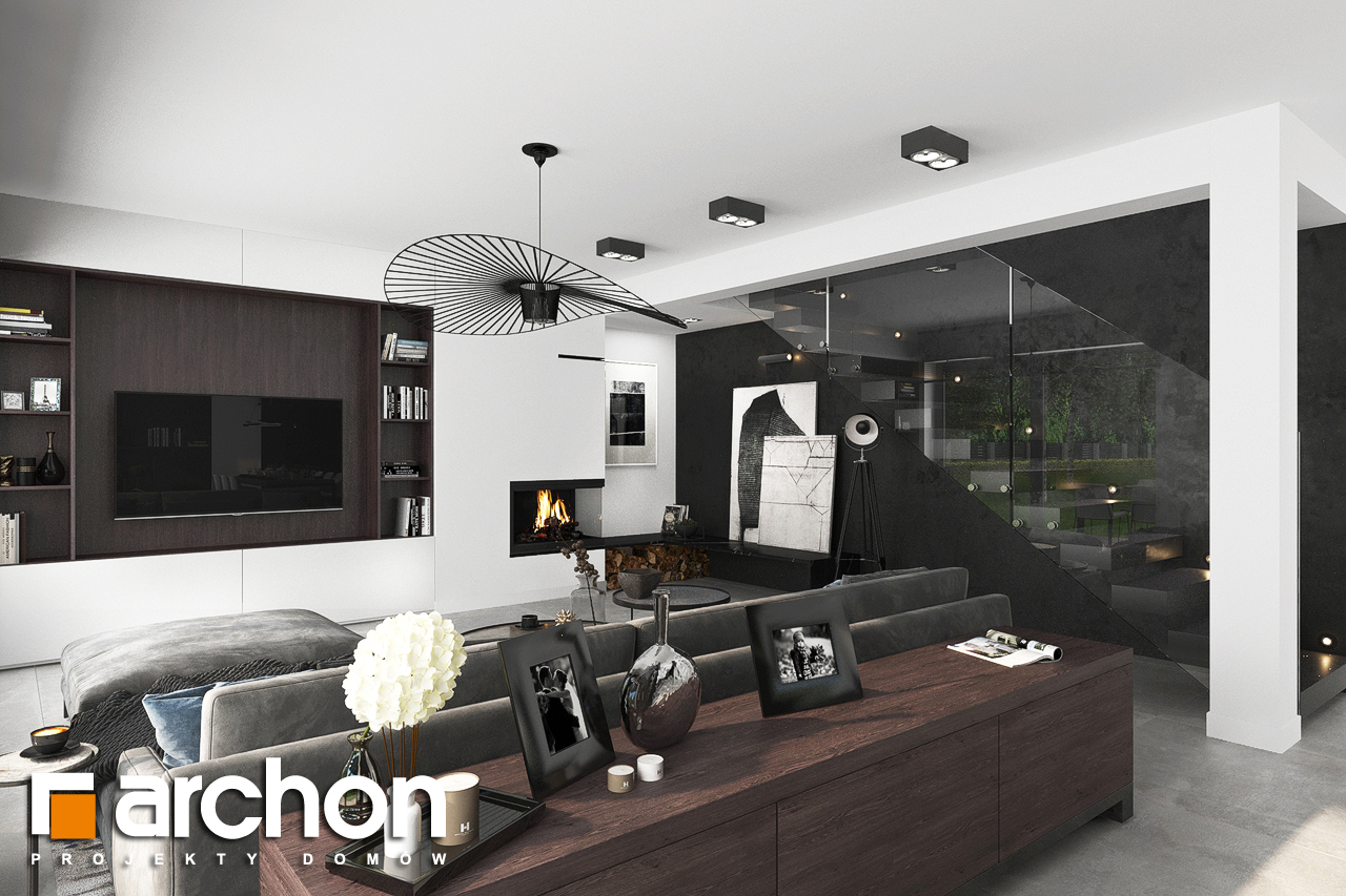 Проект будинку ARCHON+ Вілла Міранда 5 (Г2) денна зона (візуалізація 1 від 3)