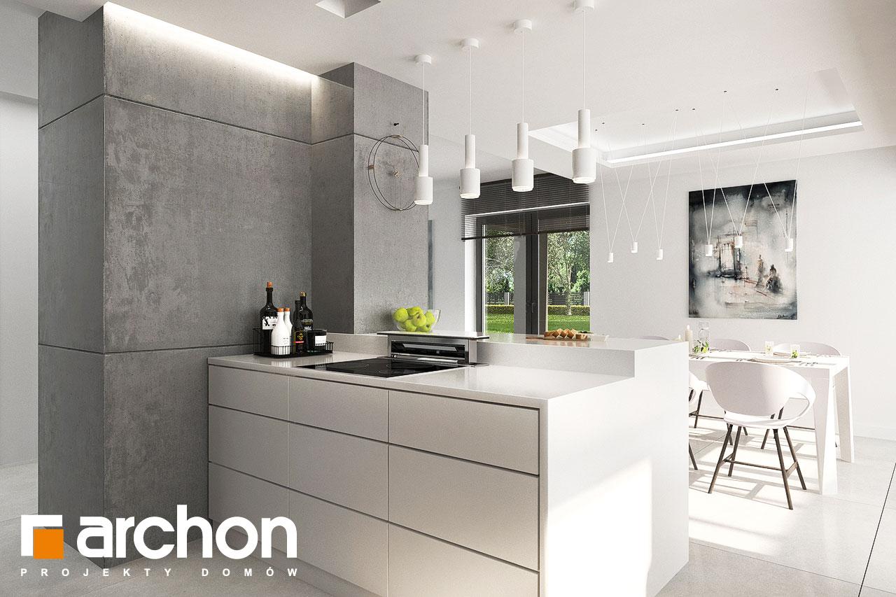 Проект будинку ARCHON+ Будинок в альбіціях 2 (Г2) візуалізація кухні 1 від 2