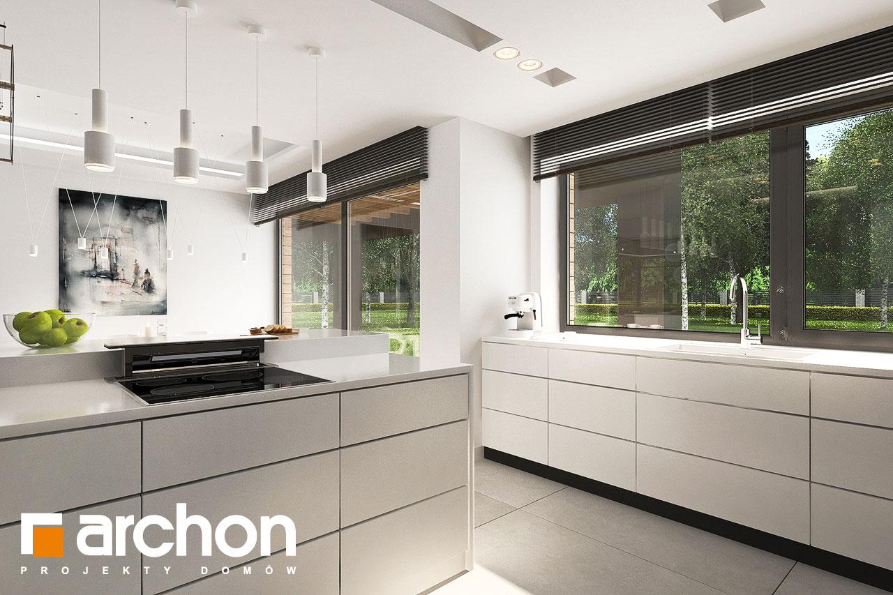 Проект будинку ARCHON+ Будинок в альбіціях 2 (Г2) візуалізація кухні 1 від 3