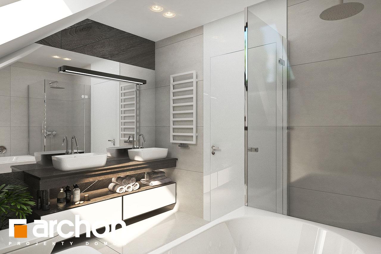 Проект будинку ARCHON+ Будинок в альбіціях 2 (Г2) візуалізація ванни (візуалізація 3 від 1)